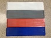 Рамка силиконовая под номер (цветная: белая, серая, красная, синяя)